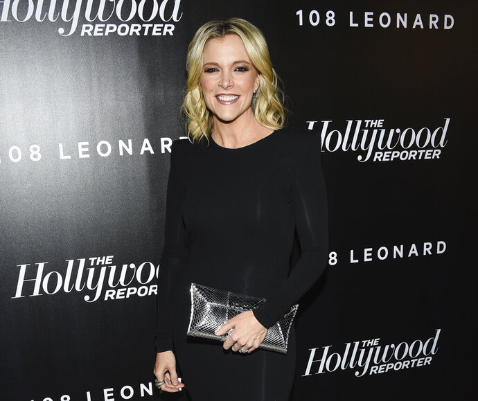 FILE - In this April 12, 2018 file photo, television journalist Megyn Kelly attends The Hollywood Reporter's annual 35 Most Powerful People in Media event at The Pool in New York. NBC News has reached its professional divorce agreement with anchor Kelly. The network announced the deal Friday night, Jan. 11, 2019, after more than two months of negotiations, giving no details. (Photo by Evan Agostini/Invision/AP, File)
