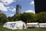 This May 7, 2020 photo shows the Samaritan's Purse field hospital in New York's Central Park. They've treated 190 patients since April 1 in collaboration with Mount Sinai Hospital. (AP Photo/Jessie Wardarski)