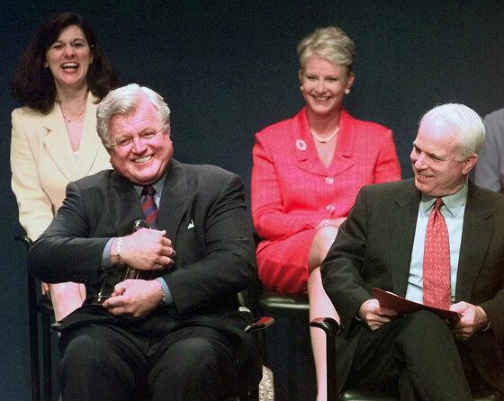 Edward Kennedy, Victoria Kennedy, John McCain, Cindy McCain