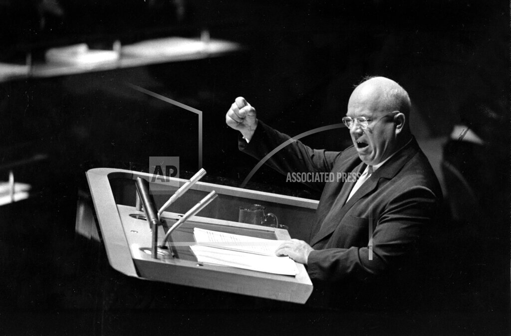 Associated Press International News United Nations U.N. ASSEMBLY KHRUSHCHEV