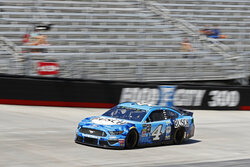 Driver Kevin Harvick makes his was around the track during practice for a NASCAR Cup Series auto race, Friday, Aug. 16, 2019, in Bristol, Tenn. (AP Photo/Wade Payne)