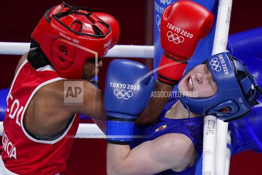 APTOPIX Tokyo Olympics Boxing