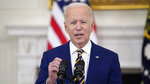 President Joe Biden speaks about reaching 300 million COVID-19 vaccination shots, in the State Dining Room of the White House, Friday, June 18, 2021, in Washington. (AP Photo/Evan Vucci)