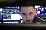 Specialist Matthew Greiner works at his post on the floor of the New York Stock Exchange, Wednesday, Jan. 9, 2019. Stocks are opening higher on Wall Street, putting the market on track for a fourth gain in a row. (AP Photo/Richard Drew)