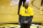 Missouri coach Cuonzo Martin shouts after a flagrant foul was called against an Illinois player during the second half of an NCAA college basketball game Saturday, Dec. 12, 2020, in Columbia, Mo. Missouri won 81-78. (AP Photo/L.G. Patterson)
