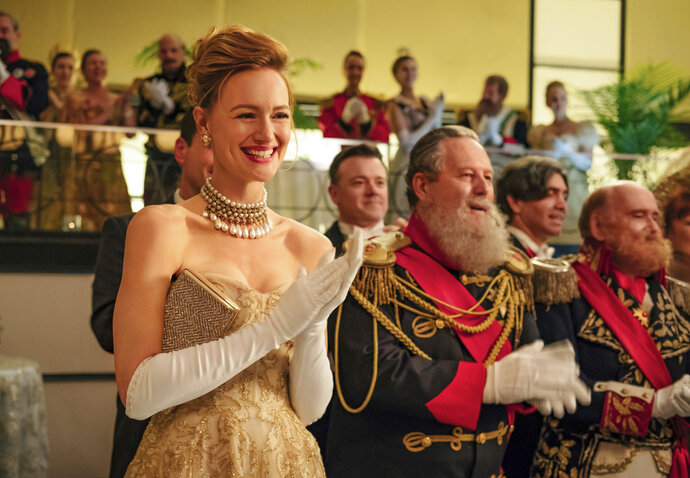 This image released by Amazon Studios shows Kerry Bishe in a scene from