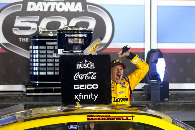 Daytona 500 win lands McDowell more sponsorship money