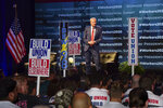 Democratic presidential candidate New York City Mayor Bill de Blasio speaks at the first-ever