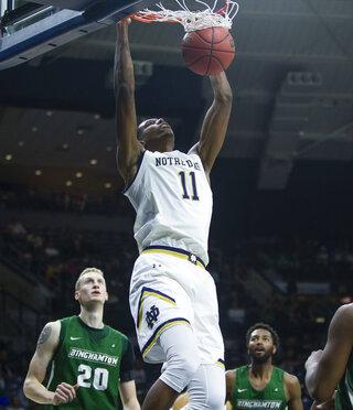 Notre Dame Binghamton Basketball