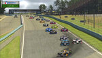 FILE - In this image taken from video provided by iRacing IndyCar, Pato O'Ward, foreground, heads into a turn during the opening lap of the American Red Cross Grand Prix virtual IndyCar auto race at Watkins Glen International. The mind-boggling success of virtual racing has put motorsports out front in the race to create competition during the sports shutdown caused by the coronavirus pandemic. (iRacing IndyCar via AP)