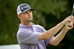 Wes Roach watches his drive off the ninth tee during the first round of the Palmetto Championship golf tournament in Ridgeland, S.C., Thursday, June 10, 2021. (AP Photo/Stephen B. Morton)
