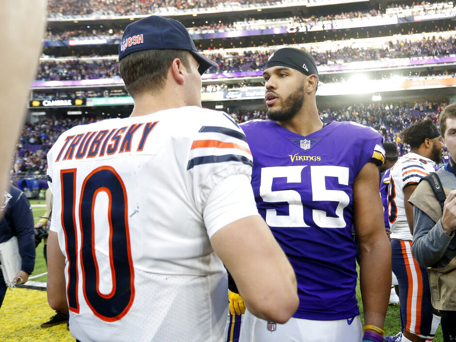 Mitchell Trubisky, Anthony Barr