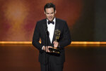 Bill Hader accepts the award for outstanding lead actor in a comedy series for
