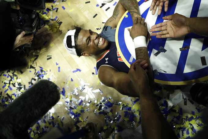 No. 22 Auburn routs 8th-ranked Tennessee 84-64 for SEC title
