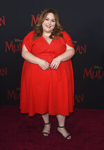 """FILE - Chrissy Metz arrives at the Los Angeles premiere of """"Mulan"""" on Mar. 09, 2020. Metz turns 41 on Sept. 29. (Photo by Jordan Strauss/Invision/AP, File)"""