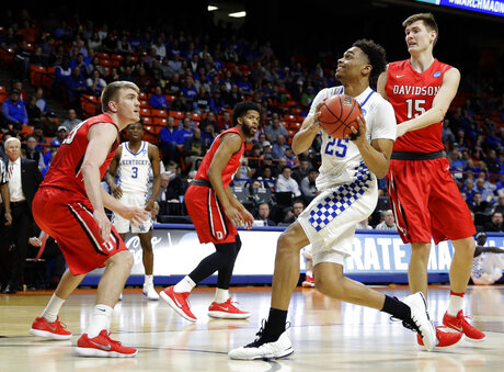 NCAA Davidson Kentucky Basketball