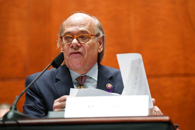 FILE - In this Tuesday, 28, 2020, file photo, U.S. Rep. Steve Cohen, D-Tenn., questions Attorney General William Barr during a House Oversight Committee on Capitol Hill in Washington. Cohen will defend his U.S. House seat against a Republican challenger in November after soundly defeating a Democratic primary challenger in Tennessee's 9th Congressional District. (Matt McClain/The Washington Post via AP, Pool, File)