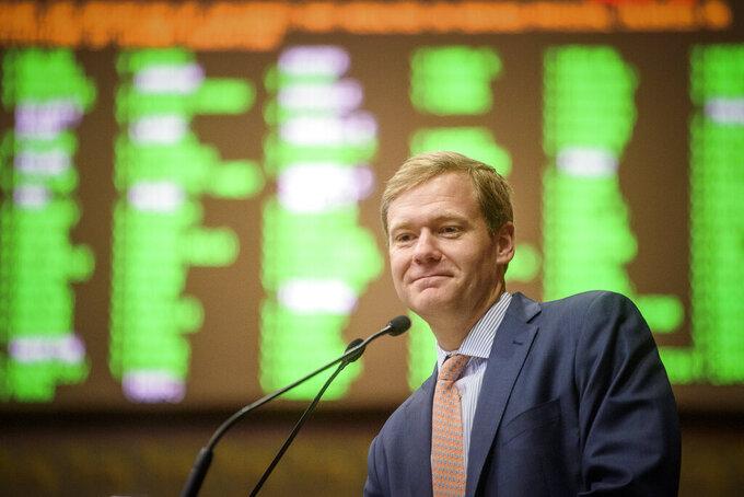 Speaker of the House John Ritter leads the chamber on Wednesday, June 9, 2021, the last day of the legislative session. (Mark Mirko/Hartford Courant via AP)