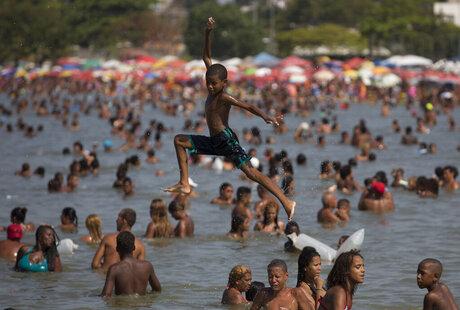 APTOPIX Brazil Tense Beaches