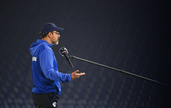 FILE - In this Sunday, June 14, 2020, file photo, Schalke's German head coach David Wagner gives an interview before the German Bundesliga soccer match between FC Schalke 04 and Bayer Leverkusen in Gelsenkirchen, Germany. Many familiar pregame sights won't be taking place when baseball and the NBA return later this month. Managers won't be exchanging lineup cards at home plate, first pitches will be in the top of the first instead of pregame and basketball lineup introductions might be a little more socially distant. (Ina Fassbender/Pool via AP, File)