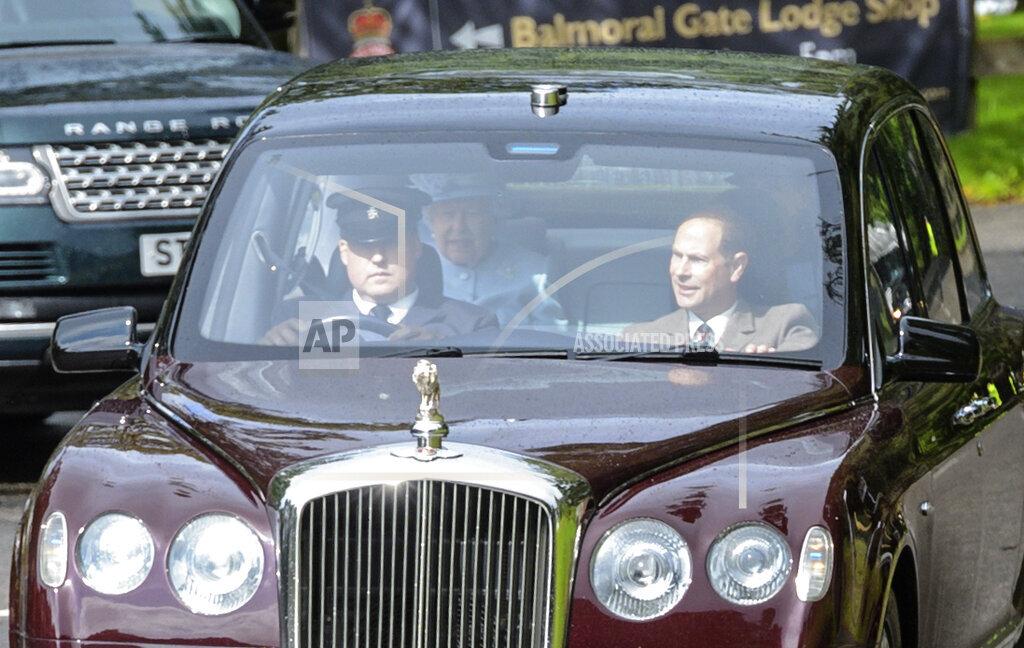Queen Elizabeth II attends church