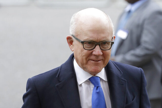 "FILE - In this March 9, 2020, file photo United States Ambassador to the United Kingdom Woody Johnson arrives to attend the annual Commonwealth Day service at Westminster Abbey in London. A report released Wednesday, Aug. 12, by the State Department's internal watchdog confirms reports that New York Jets owner Woody Johnson was accused of making ""insensitive"" and ""inappropriate"" remarks to staff as U.S. ambassador to Britain. (AP Photo/Kirsty Wigglesworth, File)"