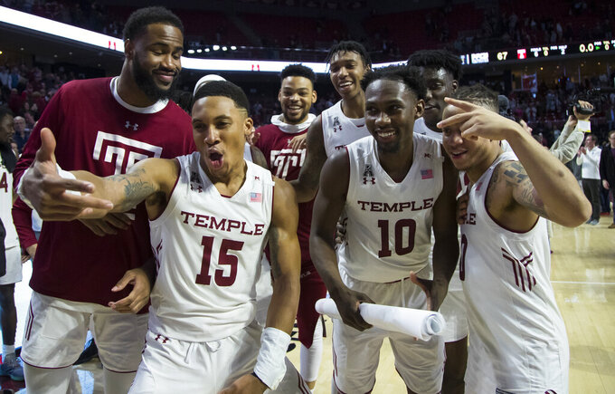 Temple tops UCF, makes case for NCAAs in Dunphy home finale