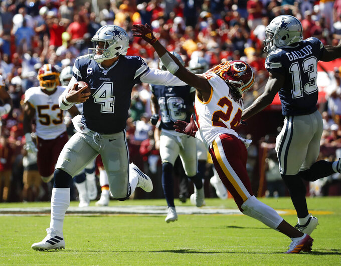 Dak double: Cowboys' Prescott beats Redskins with legs, arm