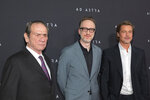 Actor Tommy Lee Jones, from left, director James Gray, and actor Brad Pitt attend a special screening of