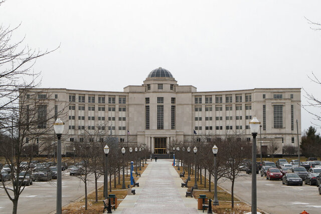 In a photo from Jan. 17, 2020, the Michigan Hall of Justice is seen in Lansing, Mich. The Michigan Court of Appeals struck down key changes to the state's ballot drive law on Monday, Jan. 27, 2020. The ruling was the second in fourth months to negate much of the law that was enacted by Republican-led Legislature and then-Gov. Rick Snyder in a contentious lame-duck session in 2018. (AP Photo/Carlos Osorio, File)