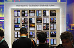 LG G8X ThinQ Dual Screen phones are on display at the LG booth during the CES tech show, Tuesday, Jan. 7, 2020, in Las Vegas. (AP Photo/John Locher)