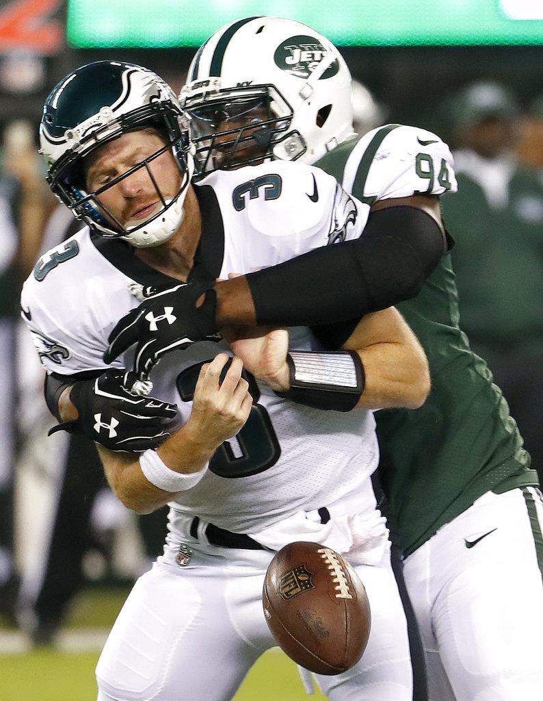 APTOPIX Eagles Jets Football