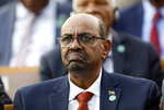 FILE - In this July 9, 2018, file photo, Sudan's President Omar al-Bashir attends a ceremony for Turkey's President Recep Tayyip Erdogan, at the Presidential Palace in Ankara, Turkey. As the uprising against Sudanese President Omar al-Bashir gained strength, Egypt, the United Arab Emirates and Saudi Arabia began reaching out to the military through secret channels to encourage his removal from power. They had long viewed al-Bashir as a problem because of his close ties to Islamists, and had grown weary of his shifting loyalties and outreach to their rivals, Turkey and Qatar. (AP Photo/Burhan Ozbilici, File)