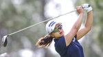 Sei Young Kim, of Korea, drives from the 2nd tee during during the final round of the Tournament of Champions LPGA golf tournament Sunday, Jan. 19, 2020, in Lake Buena Vista, Fla. (AP Photo/Gary McCullough)