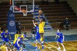 West Virginia forward Derek Culver shoots over South Dakota State guard Baylor Scheierman during an NCAA college basketball game Wednesday, Nov. 25, 2020, in Sioux Falls, S.D. (AP Photo/Josh Jurgens)
