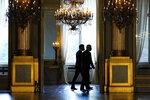 US President Joe Biden walks with Belgium's Prime Minister Alexander De Croo, at the Royal Palace of Brussels, Tuesday, June 15, 2021. (AP Photo/Patrick Semansky)