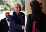 Spain's Foreign Minister Josep Borrell arrives for the inaugural meeting of the International Contact Group on Venezuela, in Montevideo, Uruguay, Thursday, Feb. 7, 2019. (AP Photo/Matilde Campodonico)