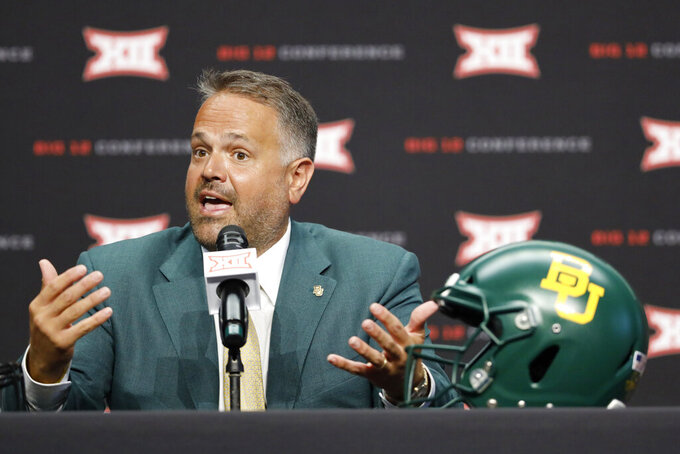 Rhule wants Baylor to focus on 1st task: opener against SFA