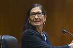 Interior Secretary Deb Haaland appears before the Senate Appropriations Committee, at the Capitol in Washington, Wednesday, June 16, 2021. (AP Photo/J. Scott Applewhite)