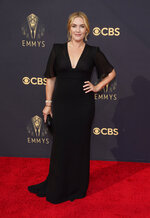 Kate Winslet arrives at the 73rd Primetime Emmy Awards on Sunday, Sept. 19, 2021, at L.A. Live in Los Angeles. (AP Photo/Chris Pizzello)