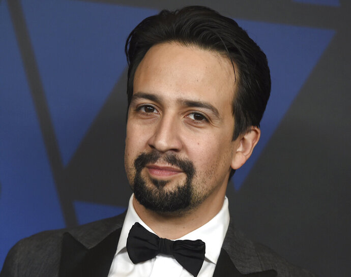 "FILE - In this Sunday, Nov. 18, 2018, file photo, Lin-Manuel Miranda arrives at the Governors Awards at the Dolby Theatre in Los Angeles. ""Hamilton"" creator Lin-Manuel Miranda has joined protests in New York demanding the resignation of Puerto Rico's governor. Miranda led about 200 people, many from Puerto Rico, at a rally in Manhattan's Union Square on Wednesday, July 17, 2019, in New York. (Photo by Jordan Strauss/Invision/AP, File)"