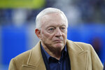 FILE - In this Nov. 17, 2019, file photo, Dallas Cowboys owner and general manager Jerry Jones waits for the team's NFL football game against the Detroit Lions in Detroit. The NFL Draft is April 23-25. (AP Photo/Paul Sancya, File)
