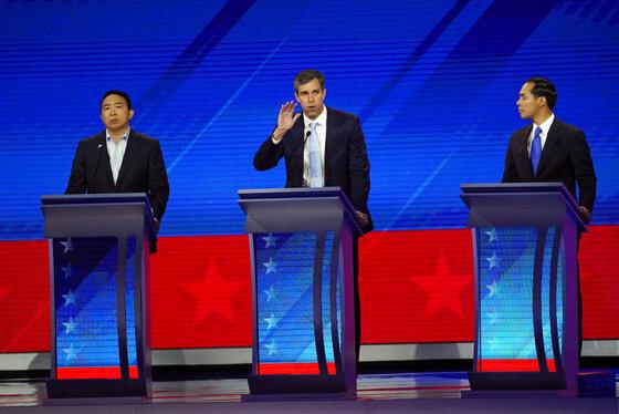 Andrew Yang, Julian Castro, Beto O'Rourke