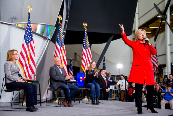 Hillary Clinton, Chelsea Clinton, Gabby Giffords, Mark Kelly