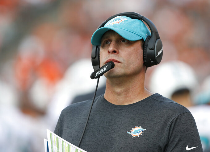 Jets interview former Dolphins coach Adam Gase