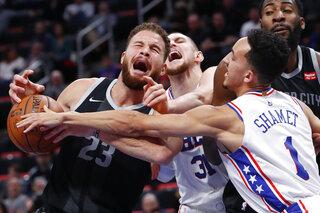 APTOPIX 76ers Pistons Basketball