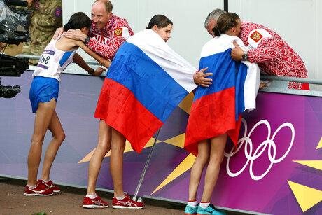 Alexey Melnikov, Sergey Kirdyapkin, Anisya Kirdyapkina, Elena Lashmanova