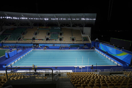 Rio Olympics Green Water