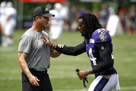 John Harbaugh, Brandon Carr