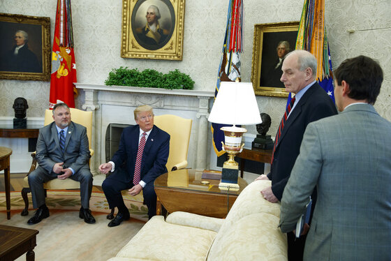 Donald Trump, John Kelly, Hogan Gidley, Don Bouvet